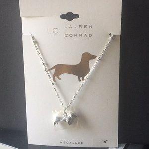 """Lauren Conrad Dachshund Silver Necklace 16"""""""